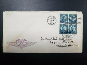 U.S. FIRST FLIGHT COVER, CAM 8, SAN JOSE, CA 10/15/1928