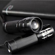 Linterna Lámpara Adjustable Zoomable LED Flashlight Torch Para Al Aire Libre