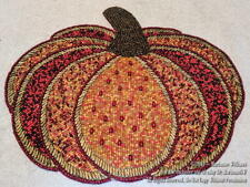 New Thanksgiving Pumpkin Beaded Placemat Elegant Fall Autumn Table Decor