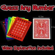 Telepathy Cards- Magic trick Any number prediction! VIDEO EXPLANATION INCLUDED