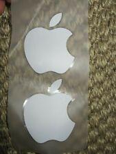 2 x Genuine original Apple logo iPhone, iPad decal stickers in white