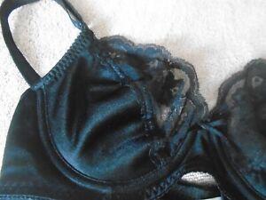 New 4333 Black Lightly Padded Lace Trim Bra Size 36C