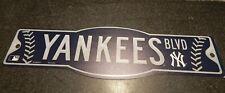 New York Yankees Blvd Baseball Plastic Street Sign
