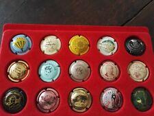 Lot 15 capsules de champagne