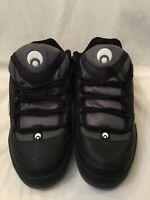 Osiris Daze Direct Influence Men Black Grey Leather Skate Shoes UK Size 13 BNWOB