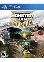 Monster Jam: Crush It Playstation 4 PS4 Kids Game Truck Racing Grave Digger