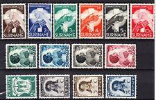 Suriname 8 ongebruikte series jaren 1935 - 1945 maar ook best wat postfris