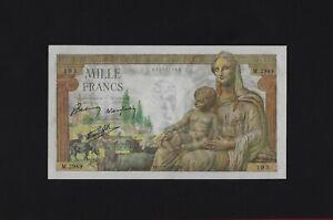 France 1000 Francs 1943 P-102 GEM UNC , NO HOLES