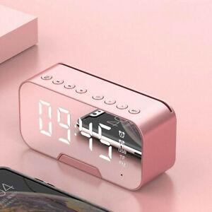 LED Wecker Digital Alarmwecker Uhr Kalender Funk Lautsprecher MP3 FM Radio DE