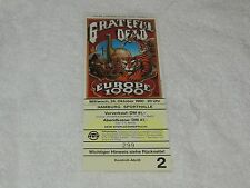Grateful Dead - Ticket - Europe 1990 Hamburg Germany 10/24/1990 Mint  - WOW