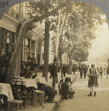 Keystone Stereoview of a Sidewalk Coffee House in BULGARIA from 1930's T600 Set