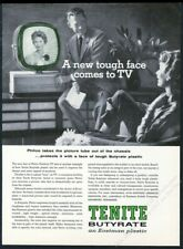 1959 Philco Predicta TV set photo Tenite plastic vintage print ad