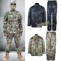 Men's outdoor cargo pants + Coats suits army combat jacket work camo hunting set