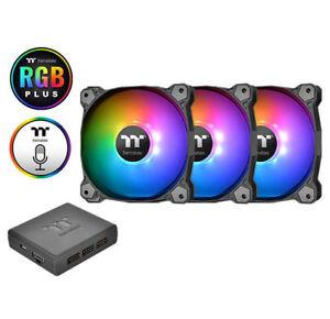 Thermaltake Pure Plus12 120mm TT Premium RGB Fan, 3 x Fan, CL-F063-PL12SW-A