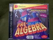 Davidson Math Blaster Mystery Pre-Algebra Ages 10 - Adult Windows/Mac Cd-Rom