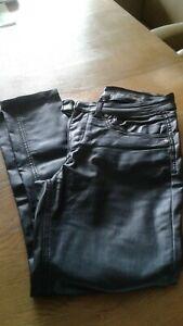 Damen Hose schwarz. Größe 28/32. Kunstleder optik