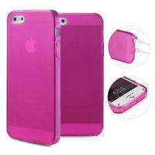 TPU Case iPhone 5 5S SE Silikon Hülle Schale Cover Matt Clear Staubschutz Pink