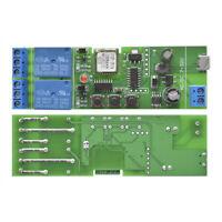 2CH Self-lock WiFi Relay Module Smart Home APP Remote Control Switch DC 7-32V