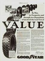 1933 ORIGINAL VINTAGE GOODYEAR TIRE MAGAZINE AD