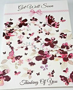 Get Well Card. Thinking of You. Heartstrings Cards. Butterflies Theme.