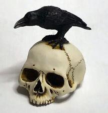 Harmony Kingdom Artist Neil Eyre Designs Halloween Human Skull Black Crow Raven