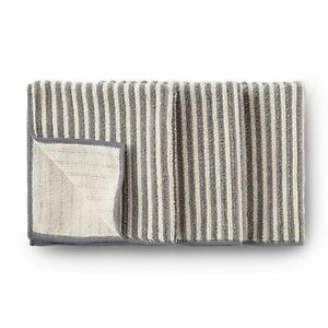 NORWEX BODY AND FACE CLOTHS SET OF 3 VANILLA & GRAPHITE STRIPES