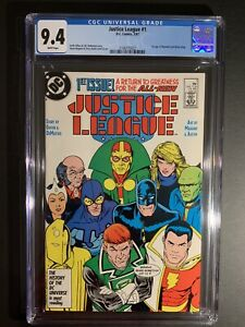 Justice League #1 CGC 9.4 WP 1987 1st Appearance Of Black King