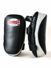 Sandee Thai Curved Kick Pads Leather Focus Strike Shield Muay Thai Kickboxing