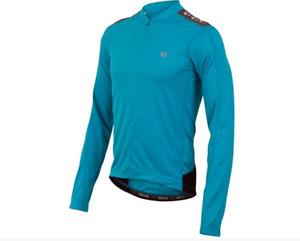 Pearl Izumi Quest Long Sleeve Jersey - Mens - Cool Blue - Medium