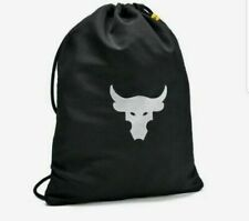 Under Armour X Project Rock Black Laundry Sackpack Drawstring Bag