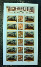 2019USA Forever Transcontinental Railroad - Sheet of 18  Mint  trains