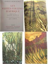 Hemingway Les Vertes Collines d'Afrique lithographies de Simon A Sauret éditeur