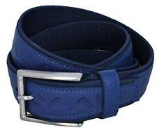 Cintura Uomo Alv by Alviero Martini 110 / 125 - 56 Blu Pelle tessuto Bn453-56
