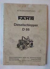 Fahr Schlepper D 66 Bedienungsanleitung