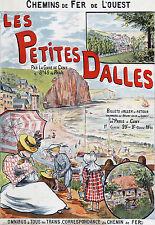 Affiche chemin de fer Ouest - Les Petites Dalles