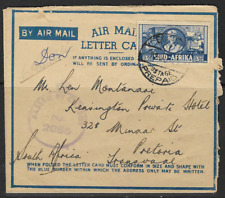 South Africa 1942 Airmail Cancelled to Pretoria Passed by Censor Postage Prepaid