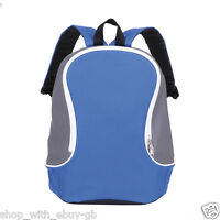 NEW BACK TO SCHOOL RUCKSACK BAG - A SPORTS GYM BACKPACK COLLEGE TWO TONED BAG
