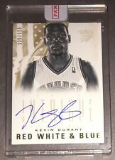 2012-13 Panini Intrigue KEVIN DURANT 1/1 125/125 Red White & Blue Auto Warriors!