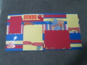 DISNEY PREMADE SCRAPBOOK PAGES - 2 12 X 12 PAGES - DUMBO