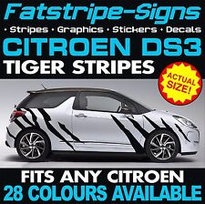 CITROEN DS3 GRAPHICS TIGER STRIPES CAR VINYL DECALS STICKERS 1.4 1.6 VTI HDI