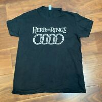 VINTAGE Mens T Shirt Small Black Herr Der Ringe Lord of the Rings Graphic Tee