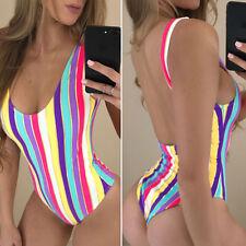 UK Women One piece Bikini Swimwear Push Up Padded Swimsuit Bathing suit Monokini