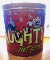 Disney Popcorn Bucket Holiday Tin Villains Maleficent Ursula Hook 3 Flavor 21oz