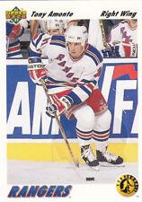 1991-92  UD UPPER DECK  #450 Tony AMONTE RC rookie - New York Rangers