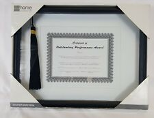 "Diploma Shadow Box 12""x16"" Frame for 8.5""x11"" Document/Certificate w/Tassle"
