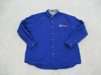 VINTAGE Florida Gators Shirt Adult Large Blue Orange Button Up Football Mens 90s