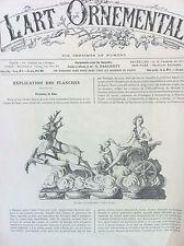 L'art Ornemental revue décoration du 5 Avril 1884 n°62 deuxiéme année