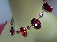 Kette 45cm lang ✿ Rosa Multi Pink ✿ Kristalle ✿ Collier 88459500