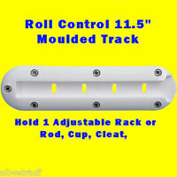 "Roll Control Molded Track Bar 11.5""  Scuba Tank Rack Adjustable Rod Cup holder"