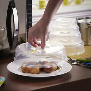 Set of 5 Microwave Covers Ventilated Mixed Size Food Plate Splatter Vent